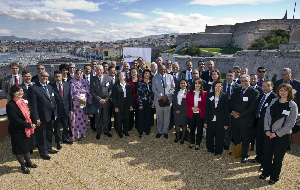 Ministers and other participants of the ETF's Policy Leaders´ Forum in Marseille, France, on 6 October 2013