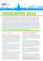 Highlights 2016 briefing note