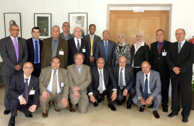 Participants and the hosts of the study visit in Casablanca, Morocco