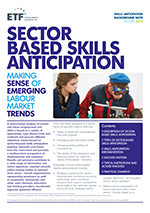 Sector-based skills anticipation