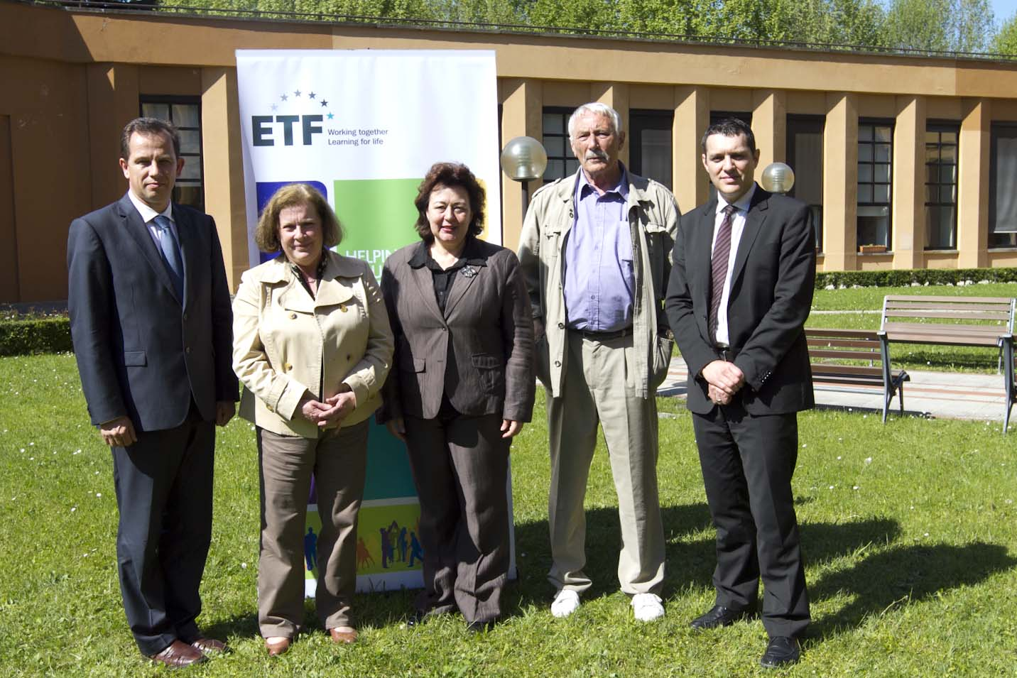 Members of the European Parliament (MEPs) with ETF director and her deputy during the MEPs' visit on 3-4 May 2012