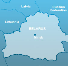 Belarus country map