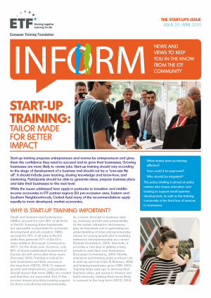 INFORM – Issue 25 – Start-up training: Tailor made for better impact