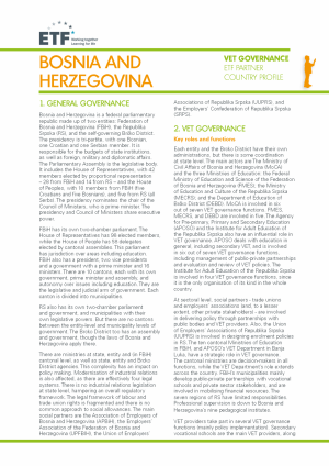VET governance: Bosnia and Herzegovina