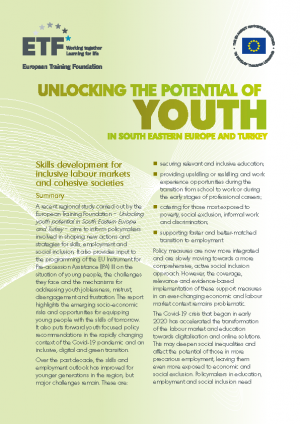 Unlocking the potential of youth in South Eastern Europe and Turkey