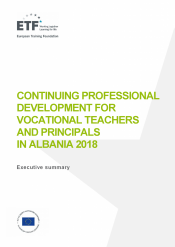 Continuing professional development for vocational teachers and principals in Albania 2018