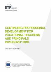 Continuing professional development for vocational teachers and principals in Kosovo 2018