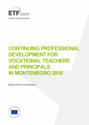 Continuing professional development for vocational teachers and principals in Montenegro 2018