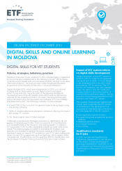 Digital skills and online learning in Moldova