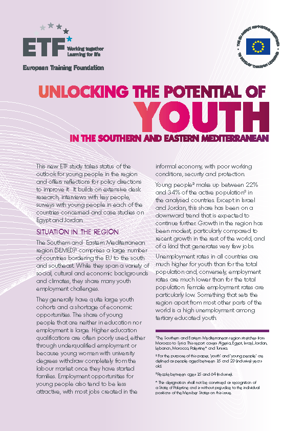 Unlocking the potential of youth in the Southern and Eastern Mediterranean