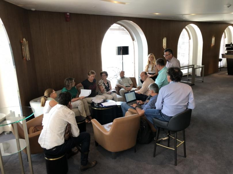 Participant discussions in workshop